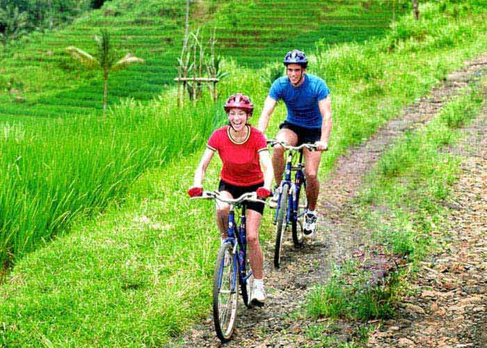Bali Downhill Cycling Tour View