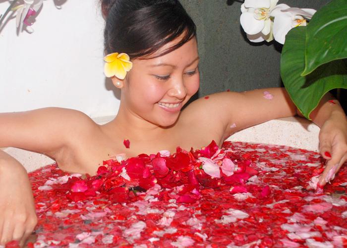 Bali Orchid Flower Bath