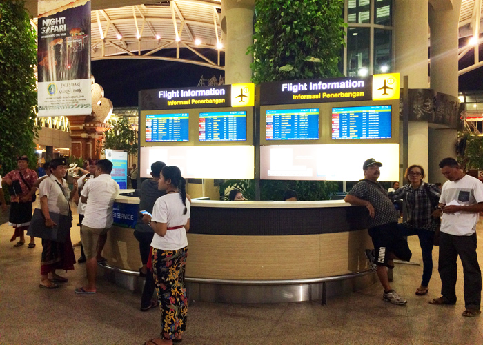 Bali Airport Flight Information Counter